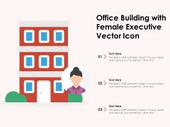 Office Building With Female Executive Vector Icon Ppt PowerPoint Presentation Icon Portfolio PDF