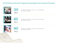 Office Cleaning Service 30 60 90 Days Plan For Corporate Cleaning Service Contract Proposal Introduction PDF