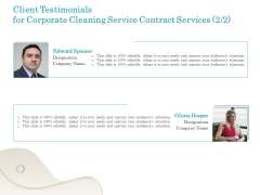 Office Cleaning Service Client Testimonials For Corporate Contract Services Ppt Portfolio Pictures PDF