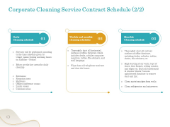 Office Cleaning Service Corporate Cleaning Contract Schedule Ppt File Samples PDF
