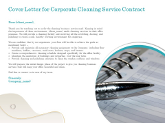 Office Cleaning Service Cover Letter For Corporate Cleaning Service Contract Ppt Ideas Aids PDF