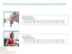 Office Cleaning Service Our Team For Corporate Service Contract Ppt Portfolio Diagrams PDF