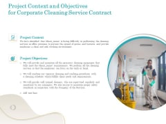 Office Cleaning Service Project Context And Objectives For Corporate Cleaning Service Contract Designs PDF