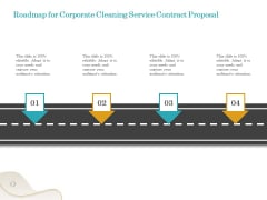 Office Cleaning Service Roadmap For Corporate Cleaning Service Contract Proposal Ideas PDF