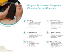 Office Cleaning Service Scope Of Services For Corporate Cleaning Service Contract Summary PDF