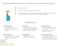 Office Cleaning Service Statement Of Work And Contract For Corporate Cleaning Service Contract Slides PDF