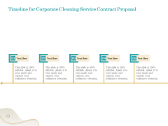 Office Cleaning Service Timeline For Corporate Cleaning Service Contract Proposal Slides PDF