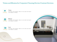 Office Cleaning Service Vision And Mission For Corporate Cleaning Service Contract Services Professional PDF