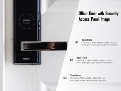 Office Door With Security Access Panel Image Ppt PowerPoint Presentation Icon Topics PDF