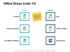 Office Dress Code Strategy Ppt PowerPoint Presentation Infographic Template Rules