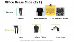 Office Dress Code Strategy Ppt PowerPoint Presentation Professional Layout
