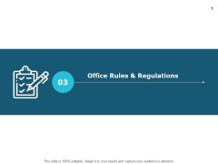 Office Rules And Regulations Agenda Ppt PowerPoint Presentation Professional Rules