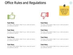 Office Rules And Regulations Ppt PowerPoint Presentation Icon Samples