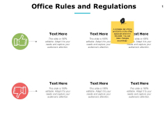 Office Rules And Regulations Ppt PowerPoint Presentation Layouts Good