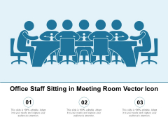 Office Staff Sitting In Meeting Room Vector Icon Ppt PowerPoint Presentation Summary Shapes