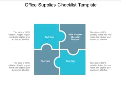 Office Supplies Checklist Template Ppt PowerPoint Presentation Portfolio Example Topics Cpb