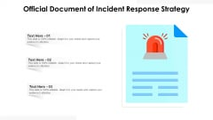 Official Document Of Incident Response Strategy Ppt PowerPoint Presentation Gallery Layout PDF
