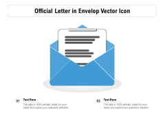 Official Letter In Envelop Vector Icon Ppt PowerPoint Presentation Pictures Deck PDF