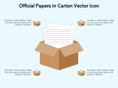 Official Papers In Carton Vector Icon Ppt PowerPoint Presentation Pictures Mockup PDF