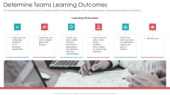 Official Team Collaboration Plan Determine Teams Learning Outcomes Clipart PDF