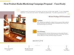 Offline Promotional Strategy For New Product Radio Marketing Campaign Proposal Case Study Portrait PDF