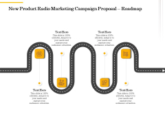 Offline Promotional Strategy For New Product Radio Marketing Campaign Proposal Roadmap Formats PDF
