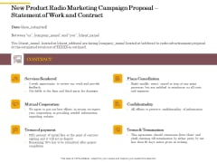 Offline Promotional Strategy For New Product Radio Marketing Campaign Proposal Statement Of Work And Contract Formats PDF