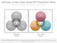 Old Sales Vs New Sales Model Ppt Powerpoint Slides