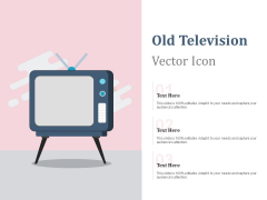 Old Television Vector Icon Ppt PowerPoint Presentation Portfolio Diagrams