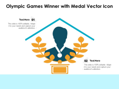 Olympic Games Winner With Medal Vector Icon Ppt Powerpoint Presentation Styles Pdf