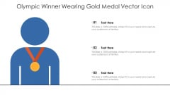 Olympic Winner Wearing Gold Medal Vector Icon Ppt Icon Objects PDF