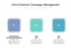 Omni Channel Campaign Management Ppt PowerPoint Presentation Infographic Template Show Cpb