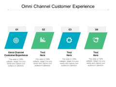 Omni Channel Customer Experience Ppt PowerPoint Presentation File Deck Cpb