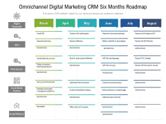 Omnichannel Digital Marketing CRM Six Months Roadmap Designs