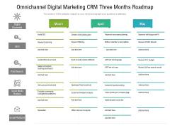 Omnichannel Digital Marketing CRM Three Months Roadmap Mockup