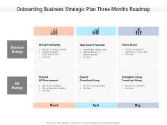Onboarding Business Strategic Plan Three Months Roadmap Download