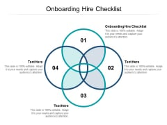 Onboarding Hire Checklist Ppt PowerPoint Presentation Inspiration Graphics Design Cpb