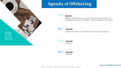 Onboarding Service Providers For Internal Operations Betterment Agenda Of Offshoring Guidelines PDF