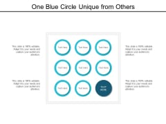 One Blue Circle Unique From Others Ppt Powerpoint Presentation Model Layout