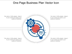 One Page Business Plan Vector Icon Ppt PowerPoint Presentation Pictures Gallery PDF