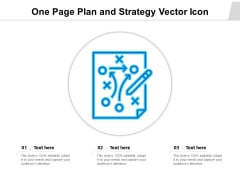 One Page Plan And Strategy Vector Icon Ppt PowerPoint Presentation File Show PDF