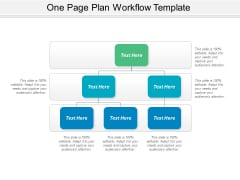 One Page Plan Workflow Template Ppt PowerPoint Presentation Ideas Templates PDF
