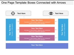 One Page Template Boxes Connected With Arrows Ppt PowerPoint Presentation Slides Examples PDF