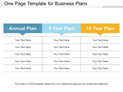 One Page Template For Business Plans Ppt PowerPoint Presentation Infographics Designs Download PDF