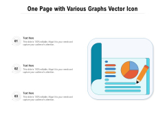 One Page With Various Graphs Vector Icon Ppt PowerPoint Presentation Gallery Graphics PDF