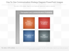 One To One Communication Strategy Diagram Powerpoint Images