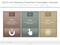 One To One Marketing Powerpoint Presentation Examples