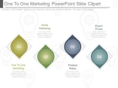 One To One Marketing Powerpoint Slide Clipart