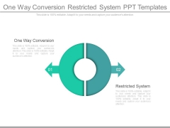 One Way Conversion Restricted System Ppt Templates