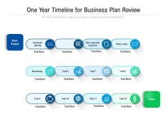 One Year Timeline For Business Plan Review Ppt PowerPoint Presentation File Visual Aids PDF
